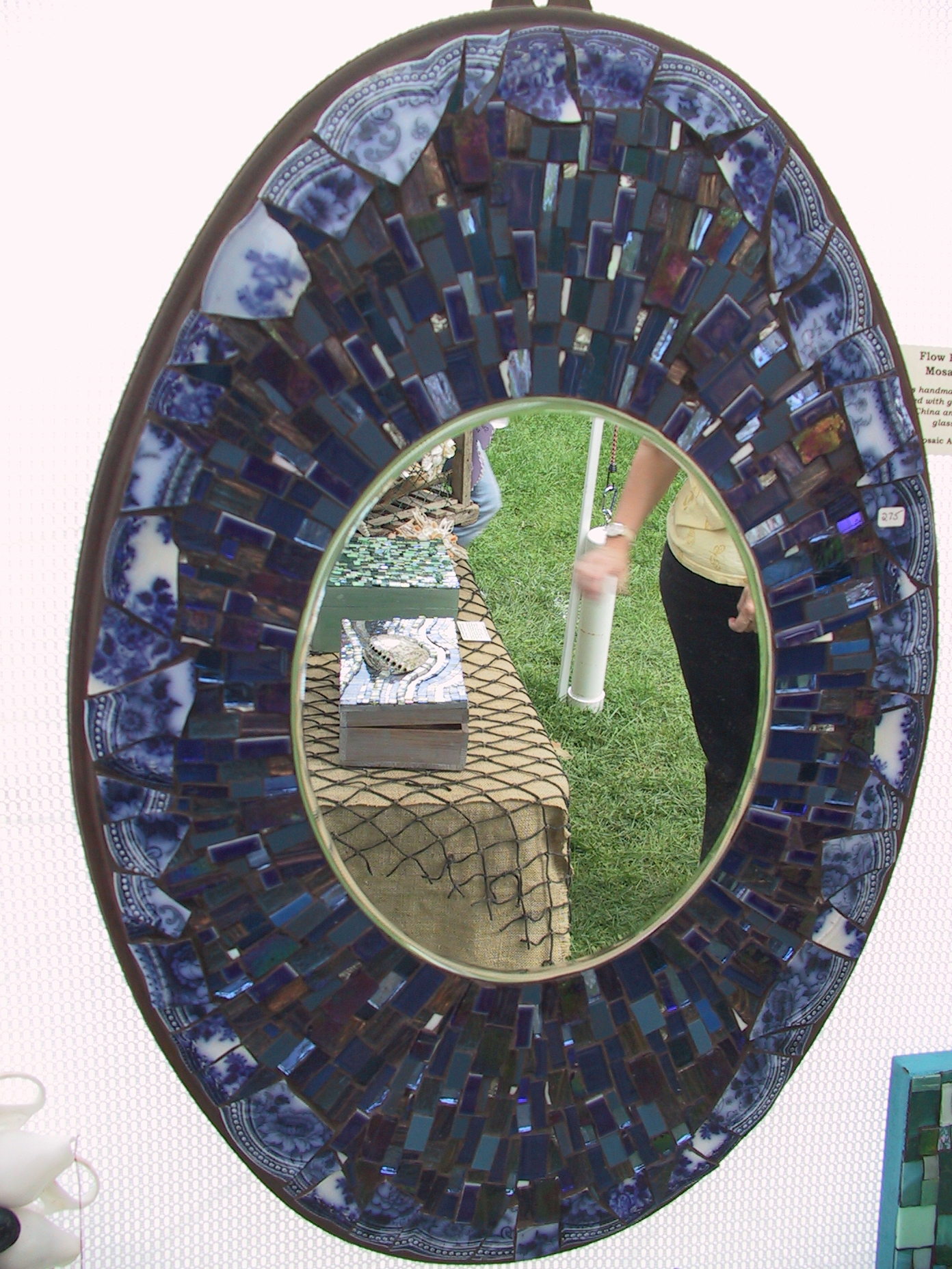 Mosaic mirrors boxes shell designs for Mosaic mirror