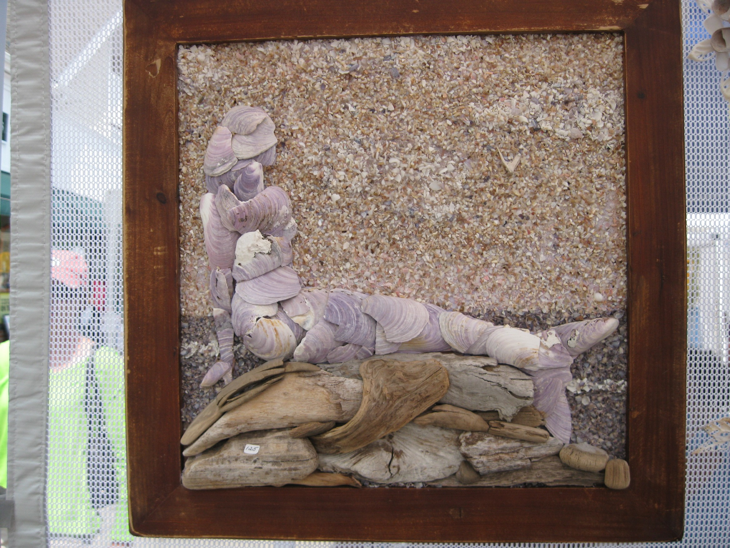 purplemussel-mermaid-framed
